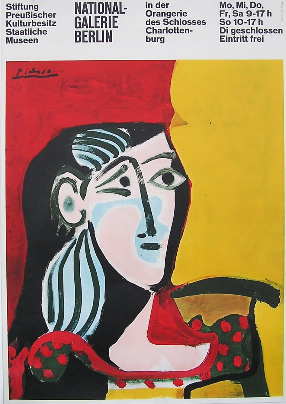 Pablo Picasso, Picasso Nationalgalerie Berlin Poster, 1960s