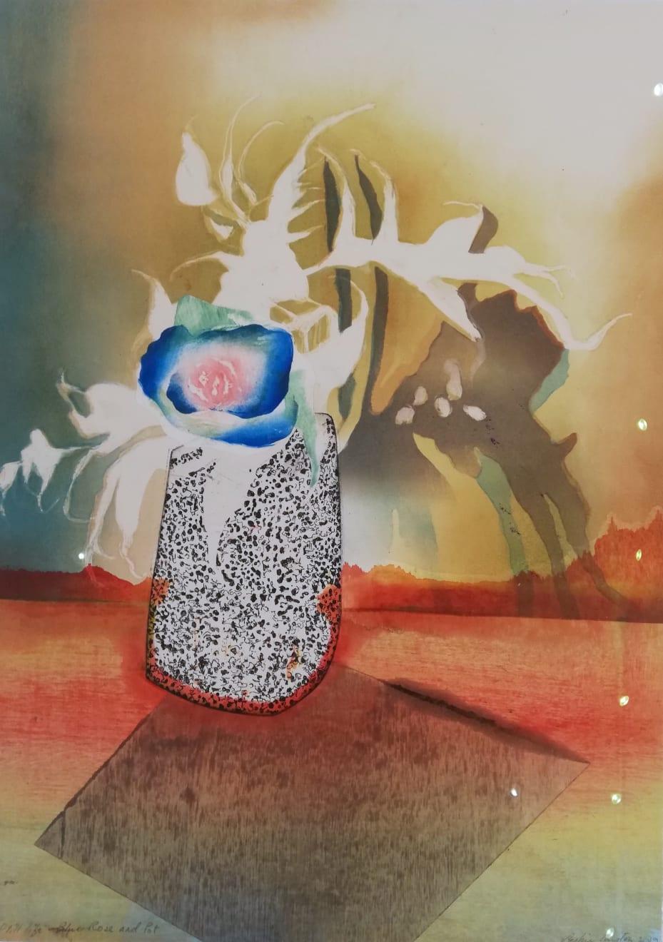 Sophie Layton, Still Life - Blue Rose & Pot, 2019