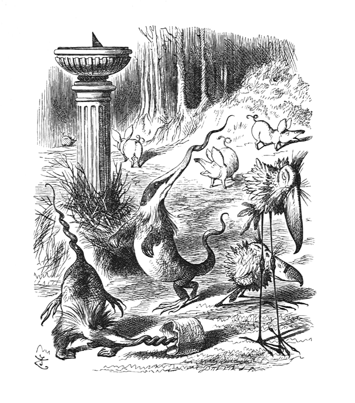 Summer Auction 2020, LOT 135 - John Tenniel - 'Twas brillig, and the slithy toves Did gyre and gimble in...