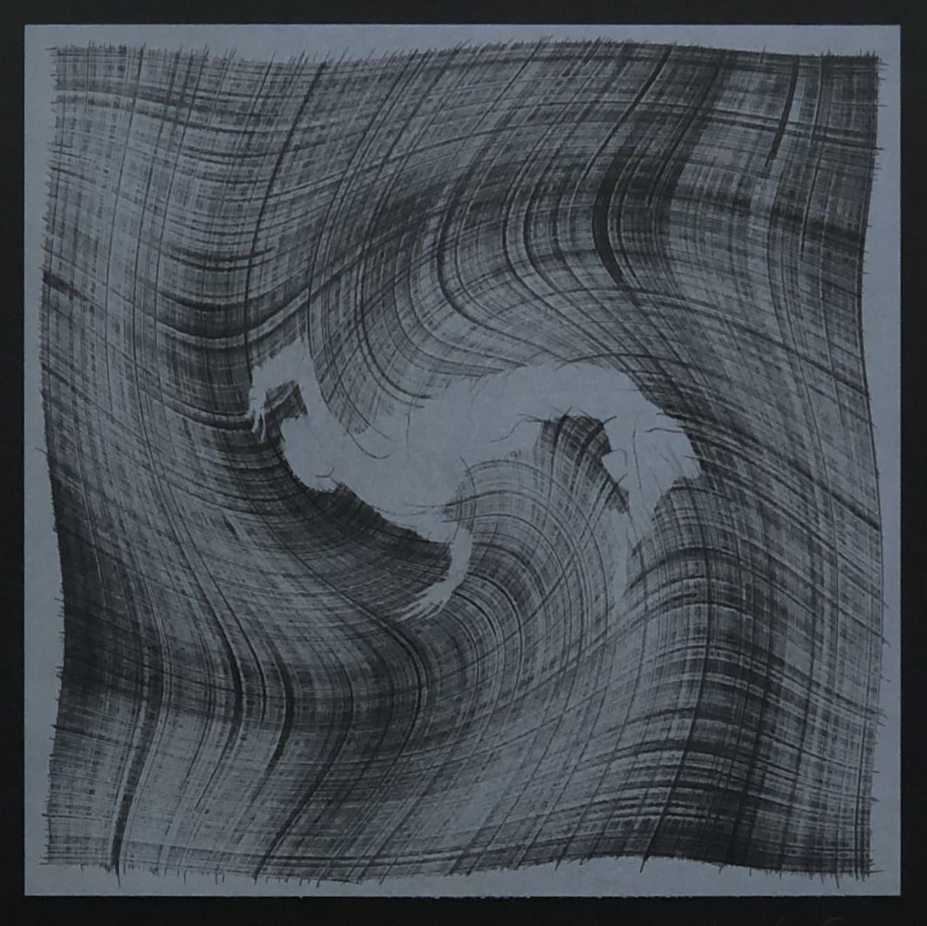Veta Gorner, Eternal Lines (on black), 2020