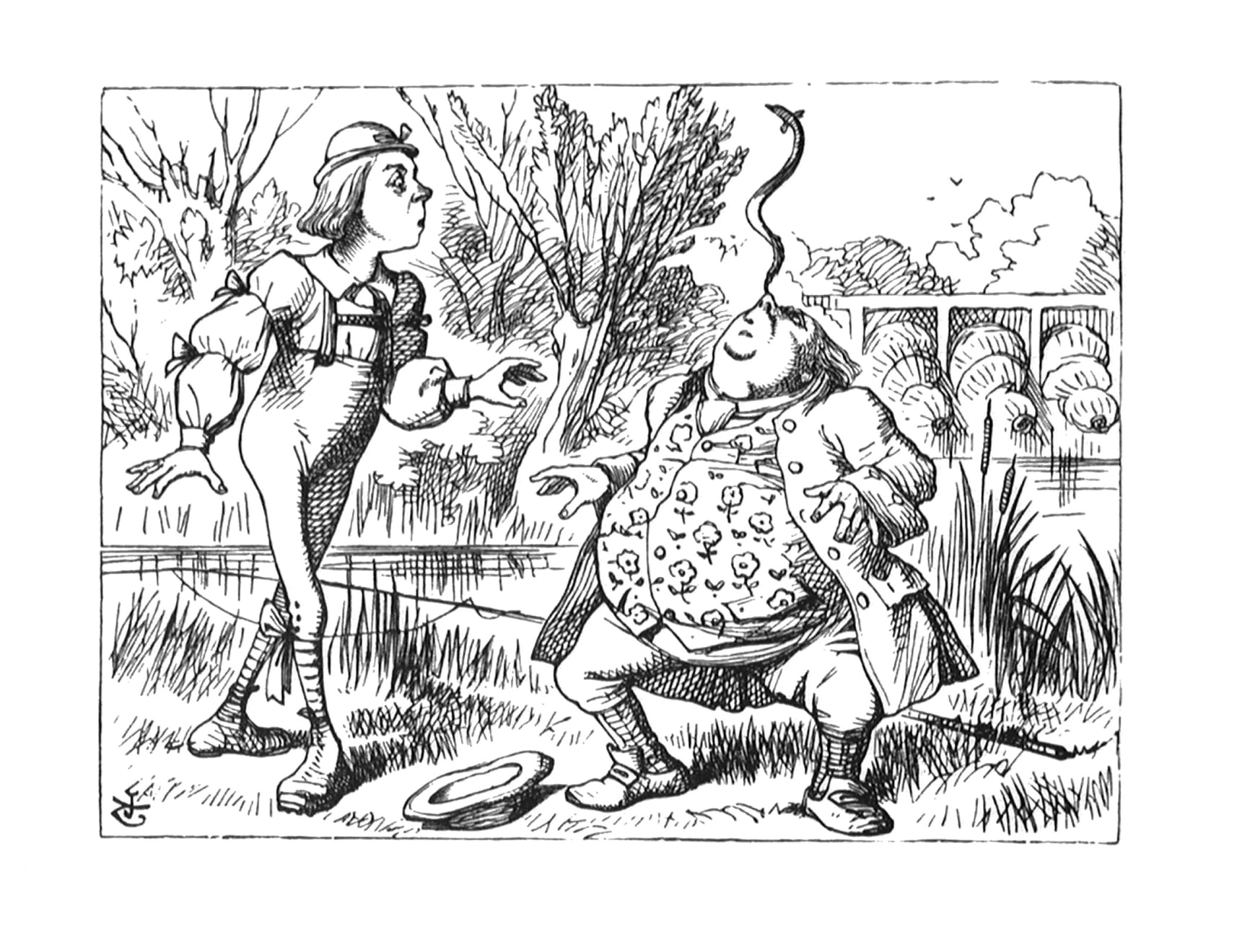 Summer Auction 2020, LOT 136 - John Tenniel - 'Yet you balanced an eel on the end of your nose...