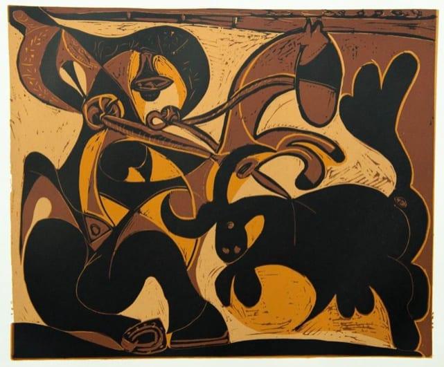 Pablo Picasso, Picador Goading Bull, 1962