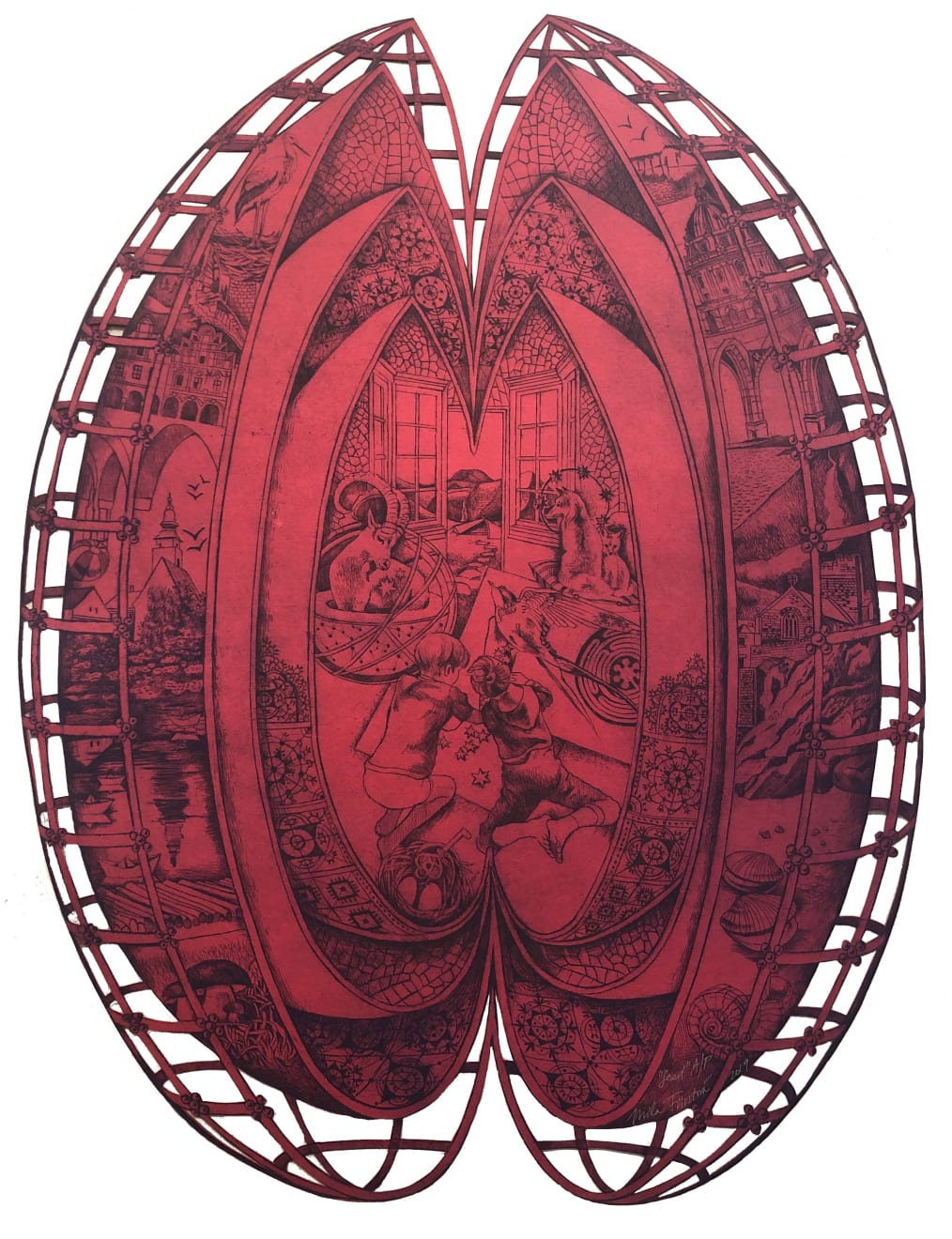 Summer Auction 2020, LOT 59 - Míla Fürstová - 'Seed' (Red), 2019