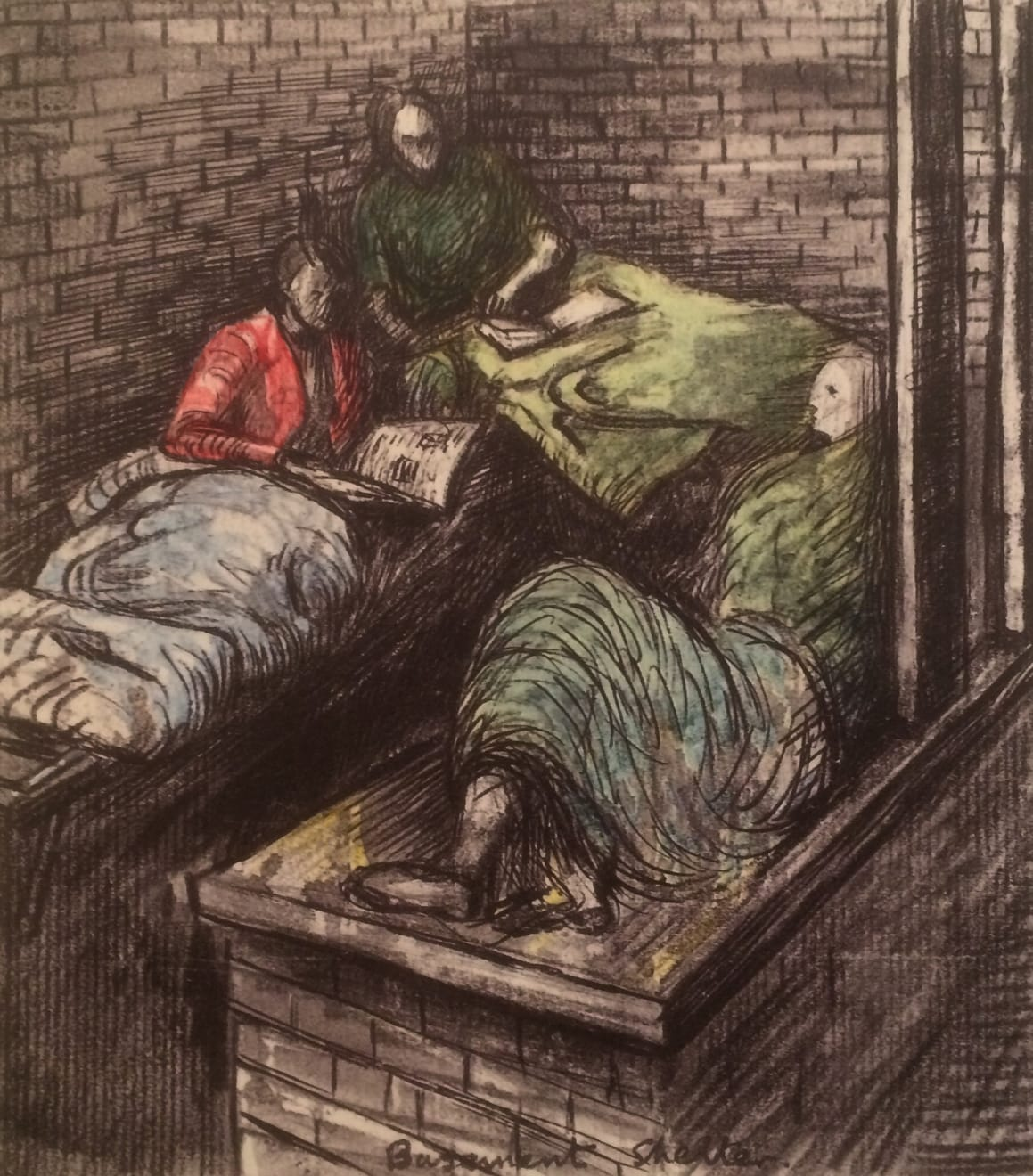 Henry Moore, Untitled XXXVIII (Shelter Sketchbook) , 1967