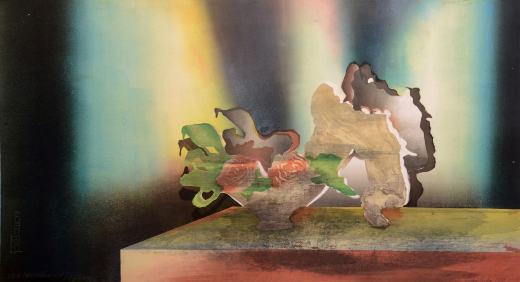 Sophie Layton, Still Life Rose & Driftwood II, 2018