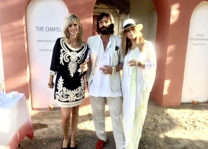 Patricia Hefner, Firouz & Camilla FarmanFarmaian