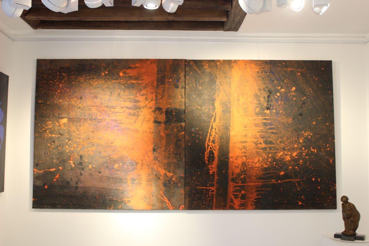 Cadmium Black II Part I Part II, , 2013 Installation view