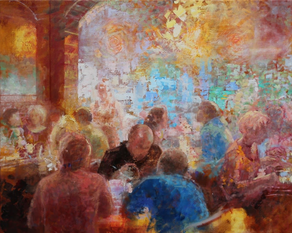 Peter Hartwig - Grand Café - 2019 - olieverf op doek - 80 x 100 cm