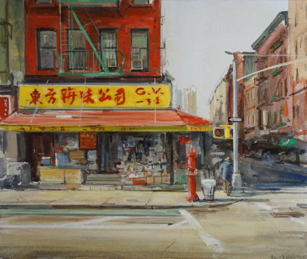 Robert Vorstman - Chinees - 2018 - olieverf op doek - 50 x 60 cm