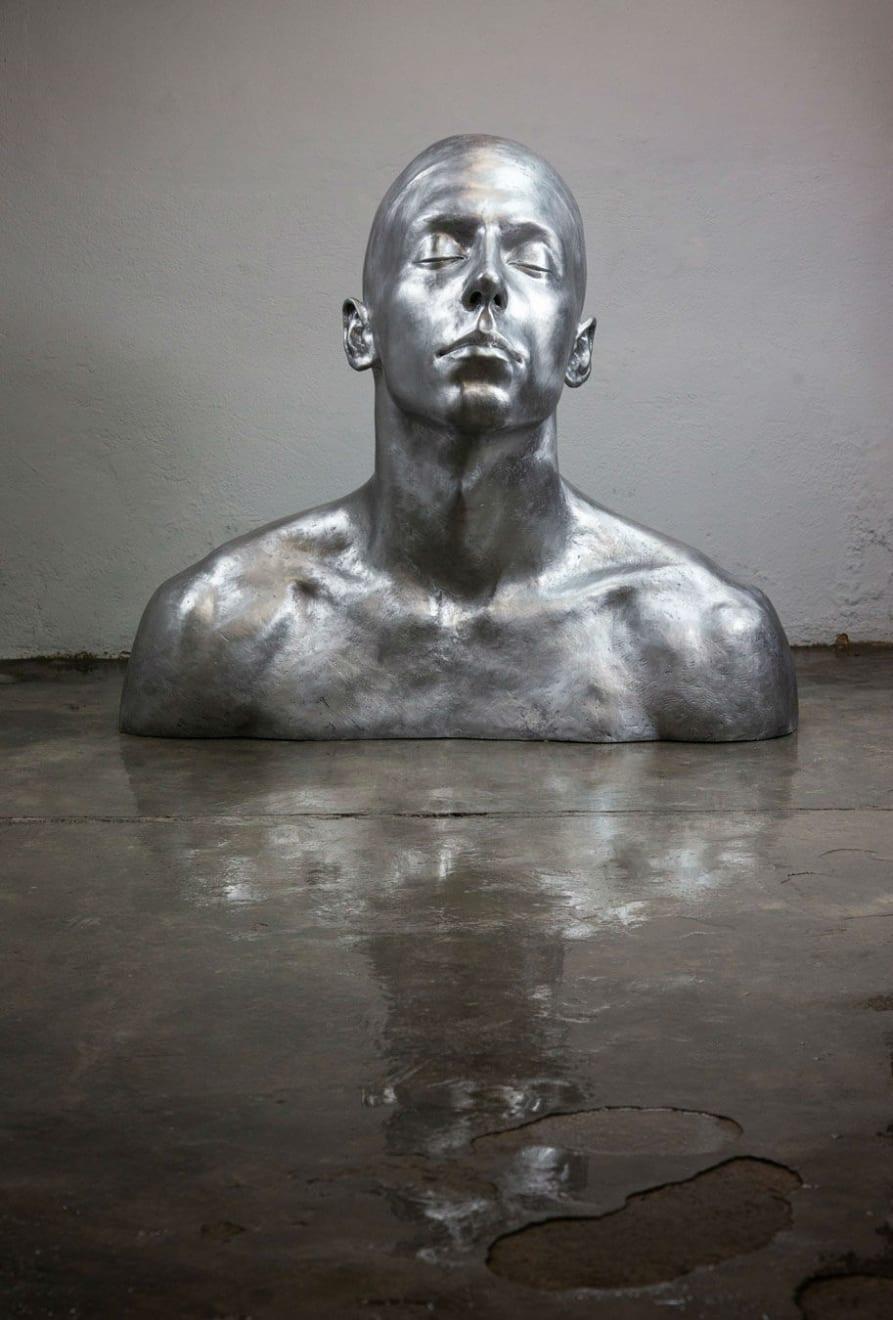 Coderch & Malavia - The Swimmer - 2019 - aluminium - 114 x 130 x 77 cm