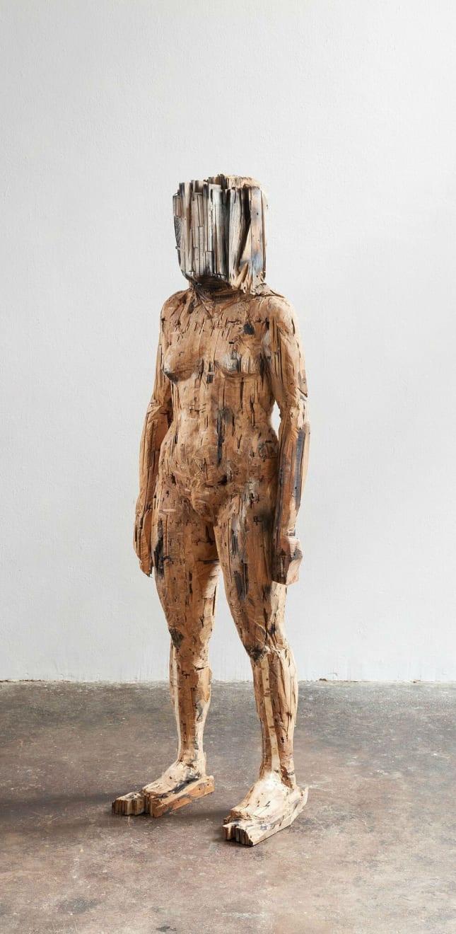 Laura Eckert - Her - 2017 - eiken, parket - 180 x 140 x 30 cm