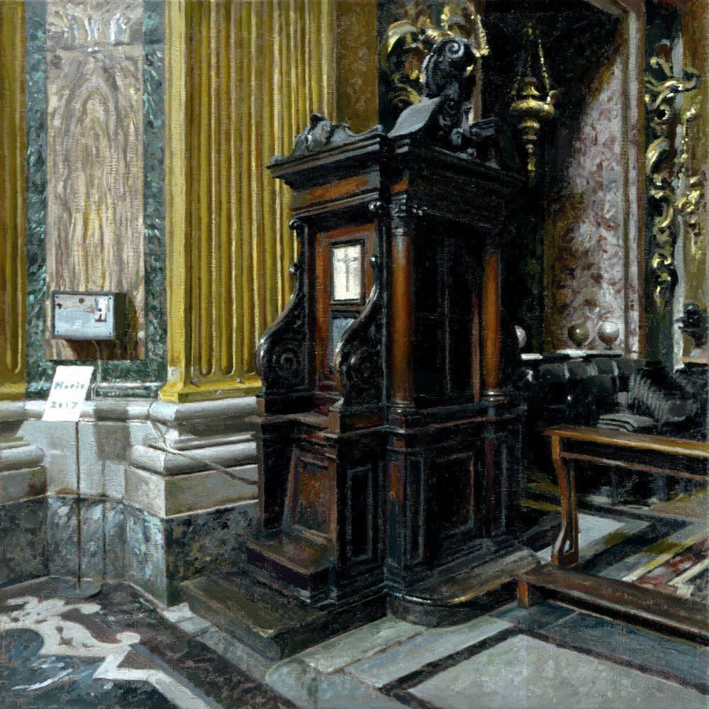 Jan Maris - Biechthok III - 2017 - olieverf op doek - 44 x 44 cm