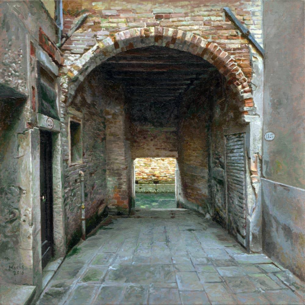 Jan Maris - Doorgang V - 2016 - olieverf op doek - 45 × 45 cm