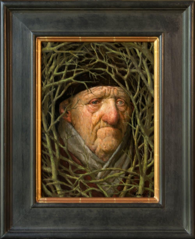 Kenne Grégoire - Bosmannetje - 2016 - acryl op paneel - 37 × 27 cm