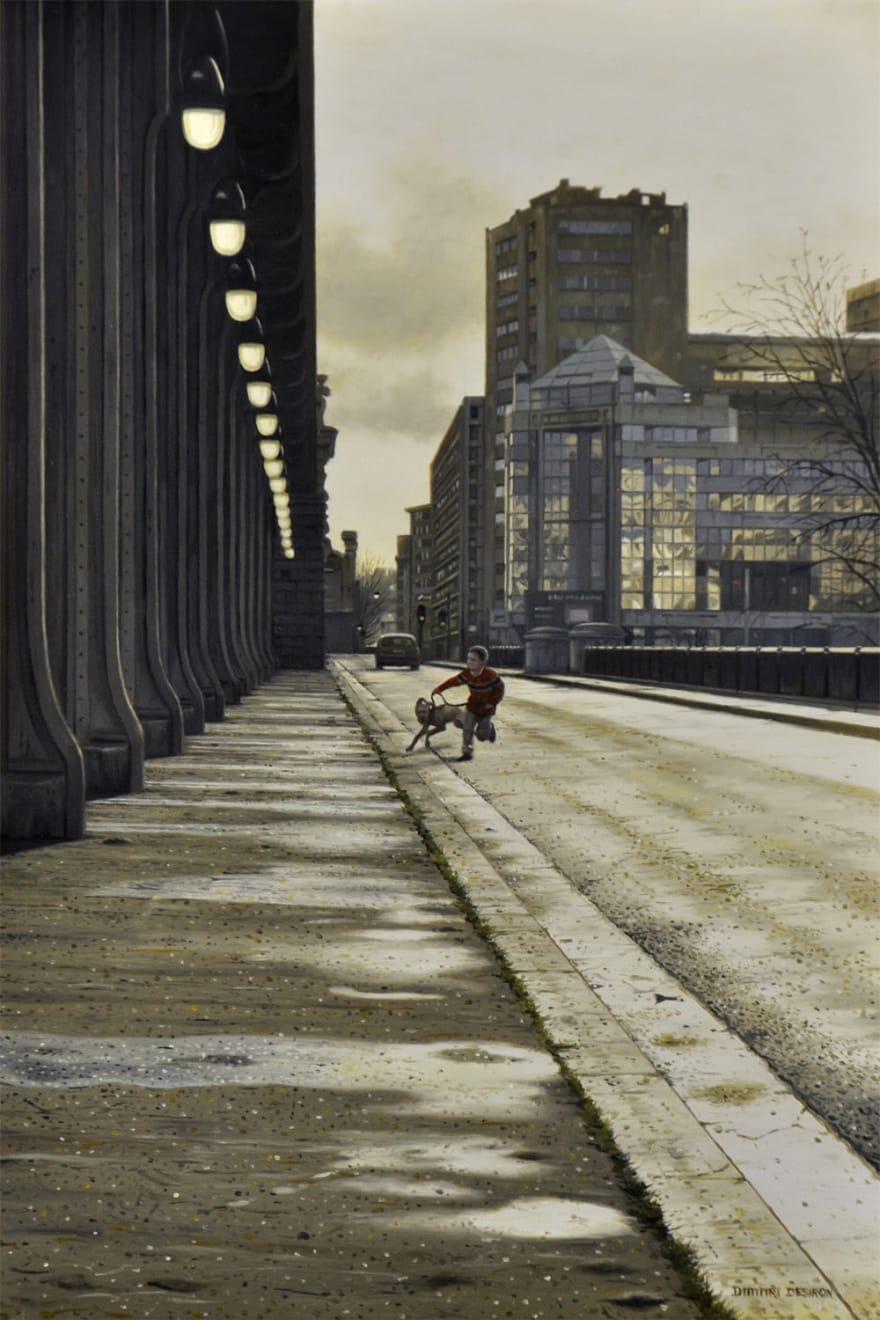 Dimitri Desiron - Bridge - 2016 - olieverf op paneel - 20 x 30 cm