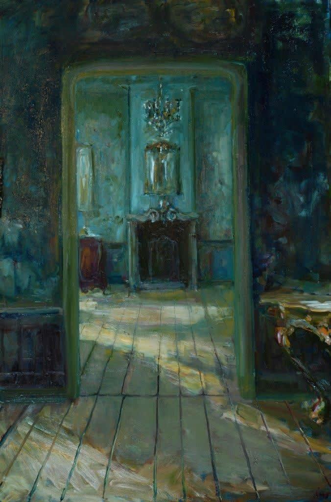 Douwe Elias - Frans interieur - 2016 - olieverf op paneel - 150 × 100 cm