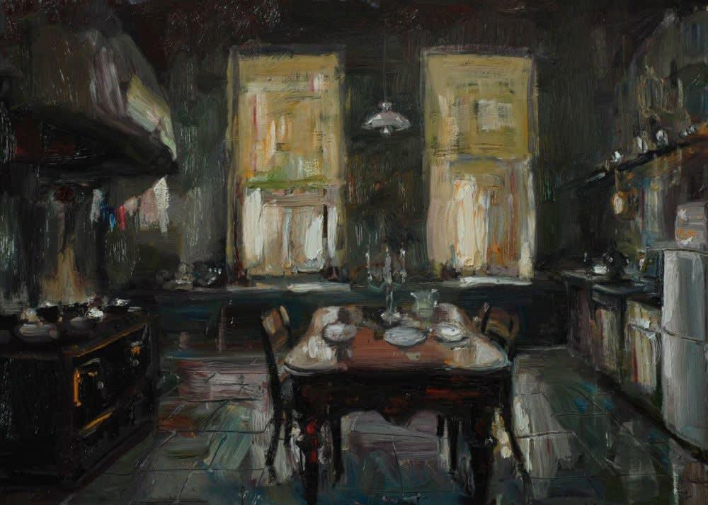 Douwe Elias - Keuken - 2016 - olieverf op paneel - 90 × 120 cm