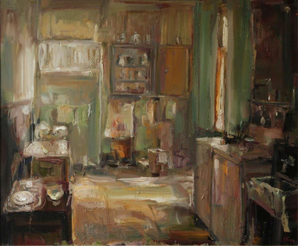 Douwe Elias - Keukentje - 2016 - olieverf op doek - 100 × 120 cm