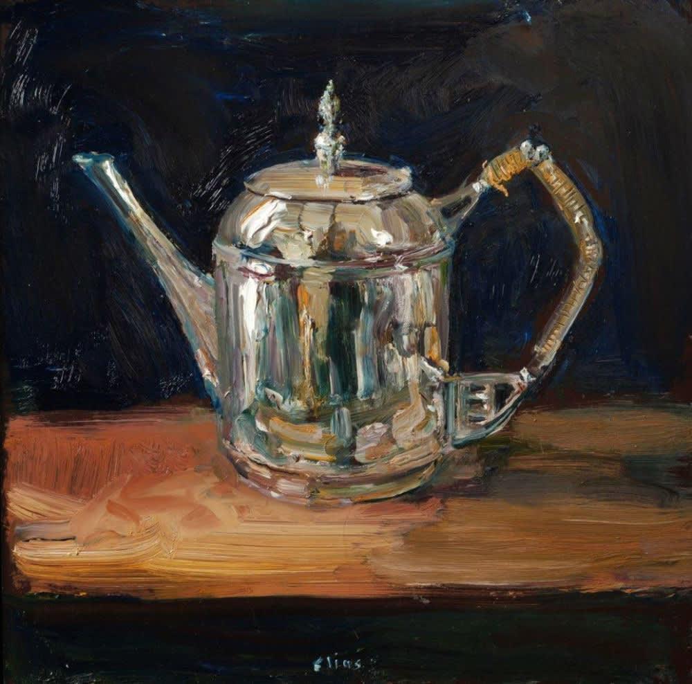 Douwe Elias - Oude pot - 2016 - olieverf op paneel - 40 × 40 cm
