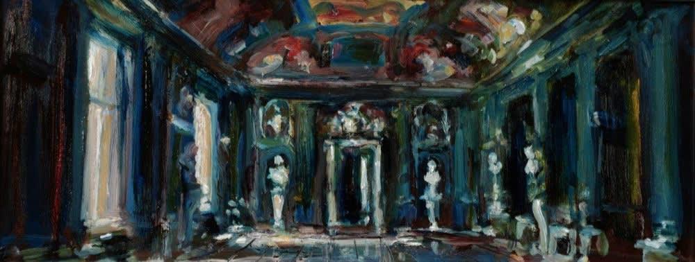 Douwe Elias - Rome - 2016 - olieverf op paneel - 30 × 78 cm