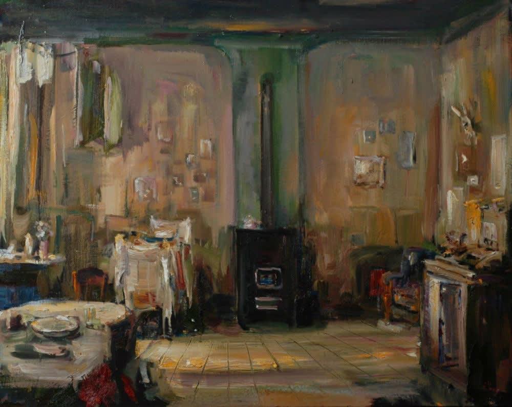 Douwe Elias - Studentenkamer - 2016 - olieverf op doek - 80 × 100 cm