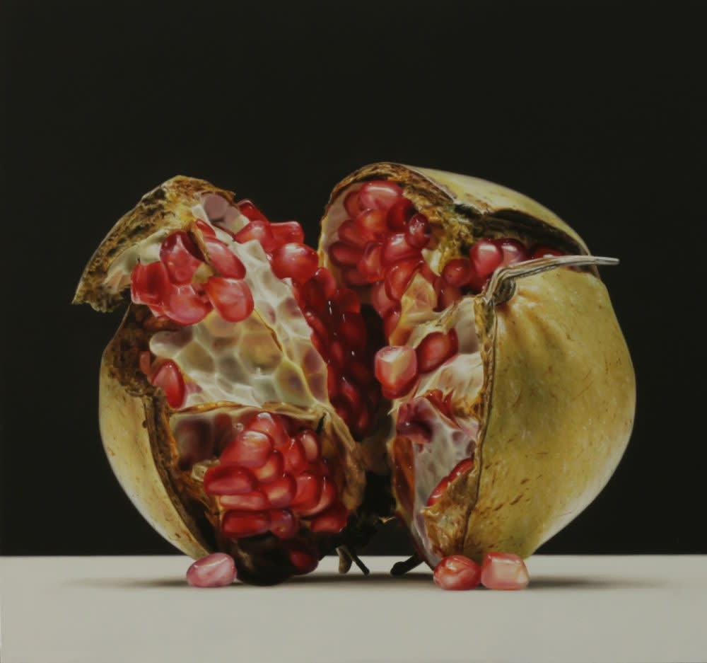 Pomegranate - 2016 - olieverf op paneel - 37 × 39 cm