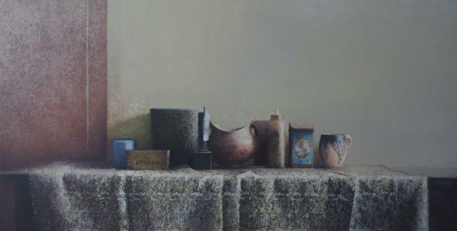 Pedro Escalona - Tela - 2016 - olieverf op doek - 49,5 × 94,5 cm
