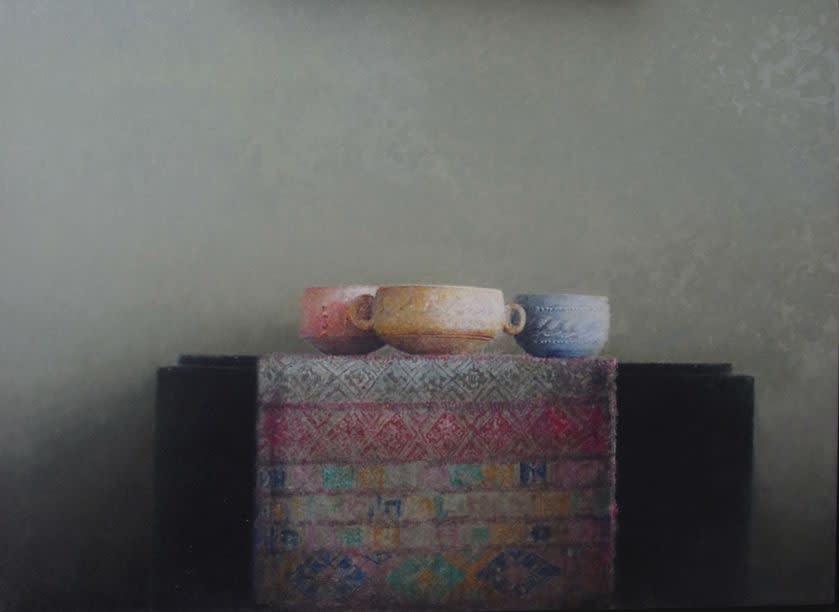 Pedro Escalona - Tela de Butan - 2016 - olieverf op paneel - 45 × 60 cm