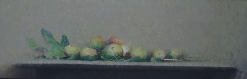 Pedro Escalona - Higos - 2016 - olieverf op paneel - 16 × 59 cm