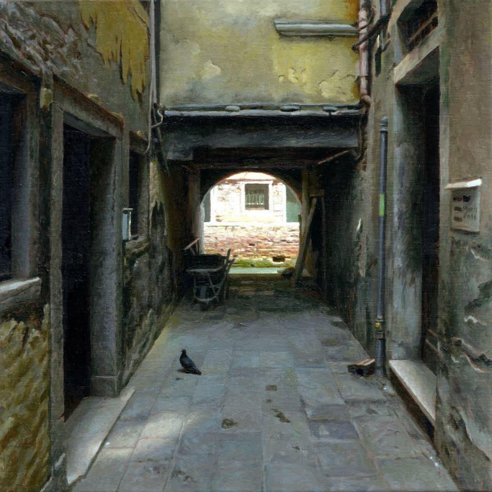 Jan Maris - Doorgang IV - 2016 - olieverf op doek - 40 × 40 cm