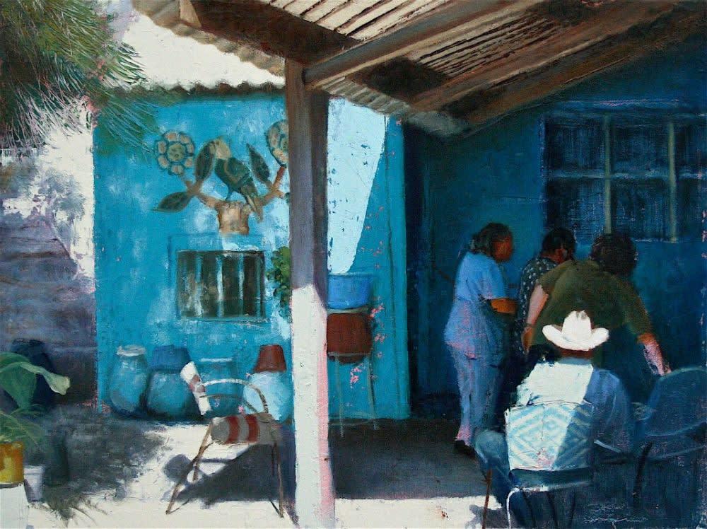 Nicolas Sanchez - La entrada - 2016 - olieverf op doek - 35 × 43 cm