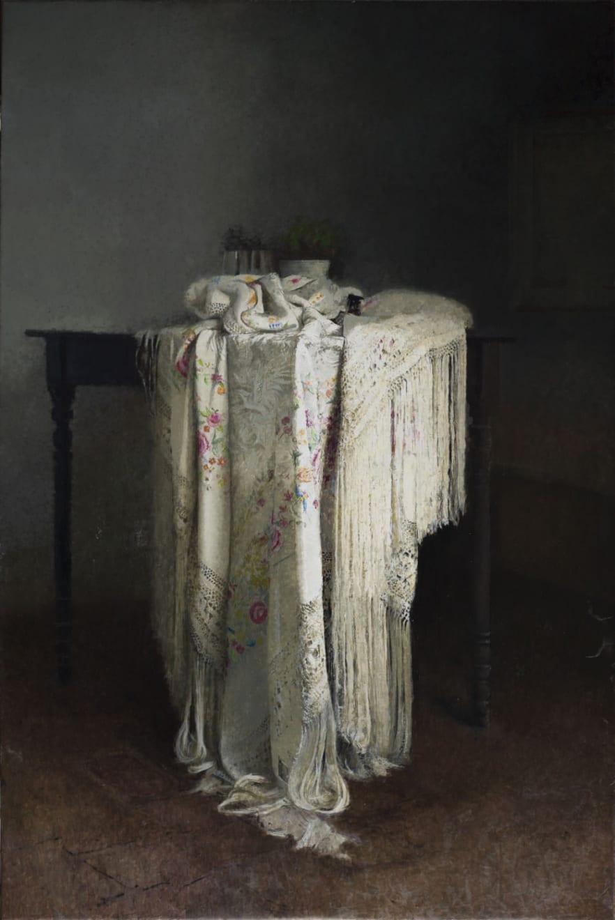 Pedro Escalona - Mantón - 2016 - olieverf op doek - 146 x 97,5 cm