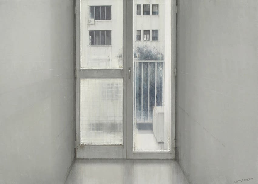Carlos Morago - Salida a la terazza - 2016 - olieverf op paneel - 50 x 70 cm