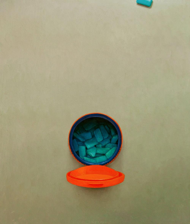 Stijn Rietman - Potje blauw - 2016 - olieverf op paneel - 26.2 x 22.2 cm