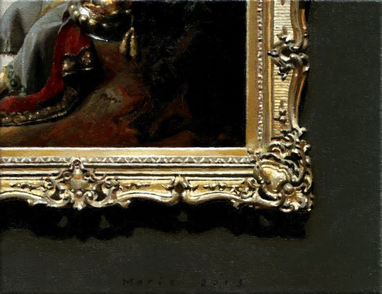 Jan Maris - Hoek van schilderij - 2013 - olieverf op doek - 20 × 26 cm