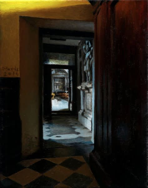 Jan Maris - Doorgang - 2014 - olieverf op doek - 25 × 20 cm