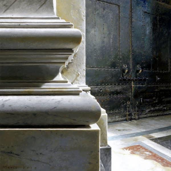 Jan Maris - Bronzen deuren - 2014 - olieverf op doek - 70 × 70 cm