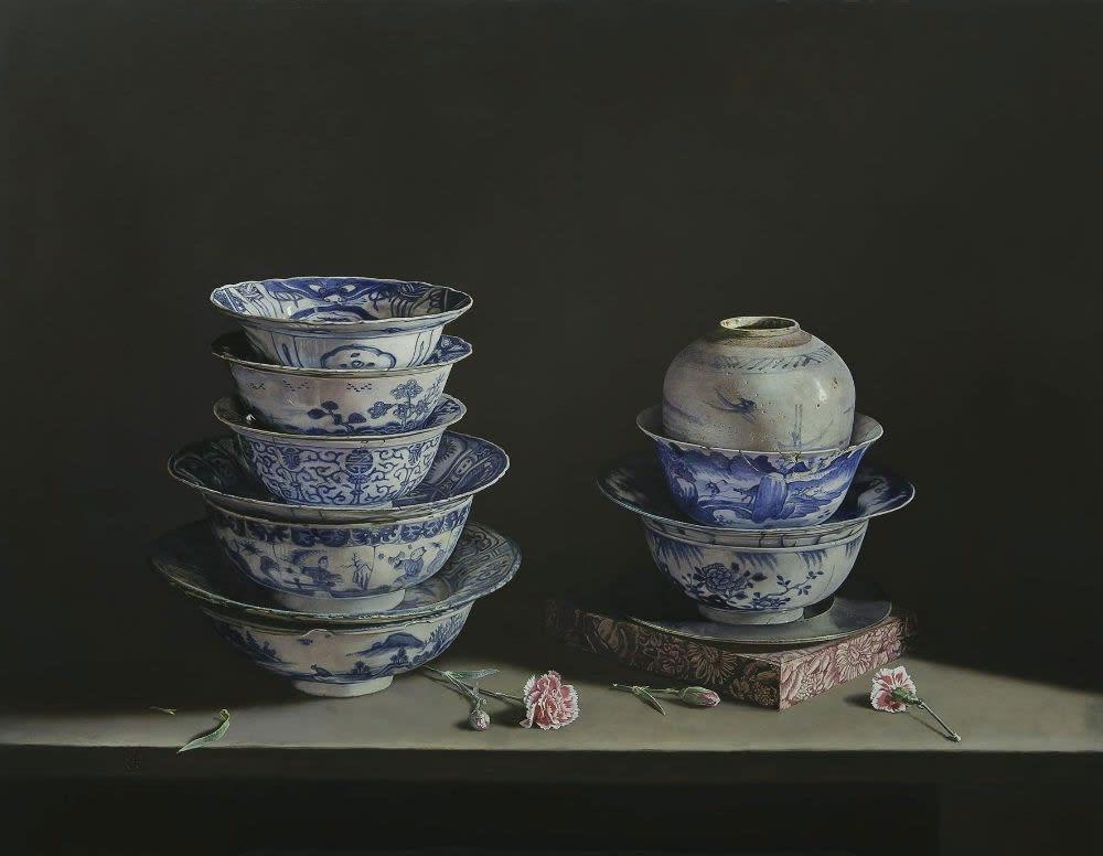 Erkin - Porcelain treasures - 2014 - olieverf op paneel - 70 x 90 cm