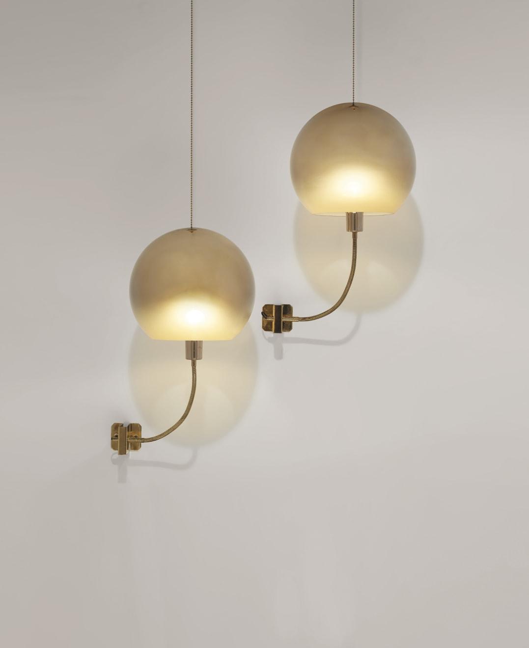 Ico Parisi, Pair of wall lights, model no. 244, c. 1960