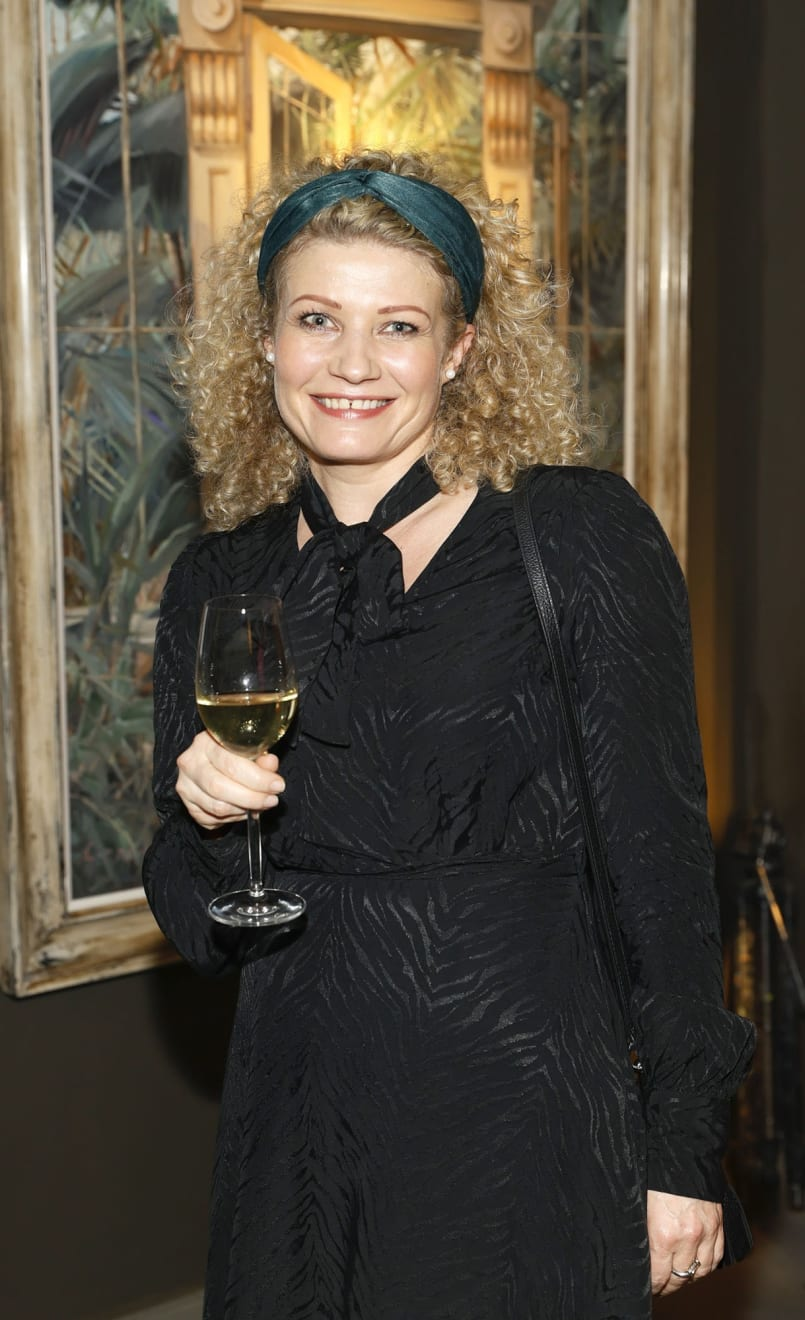 Agnes Arendarczyk at the opening of the 'Botanical Fusion. Singapore to Dublin' Exhibition