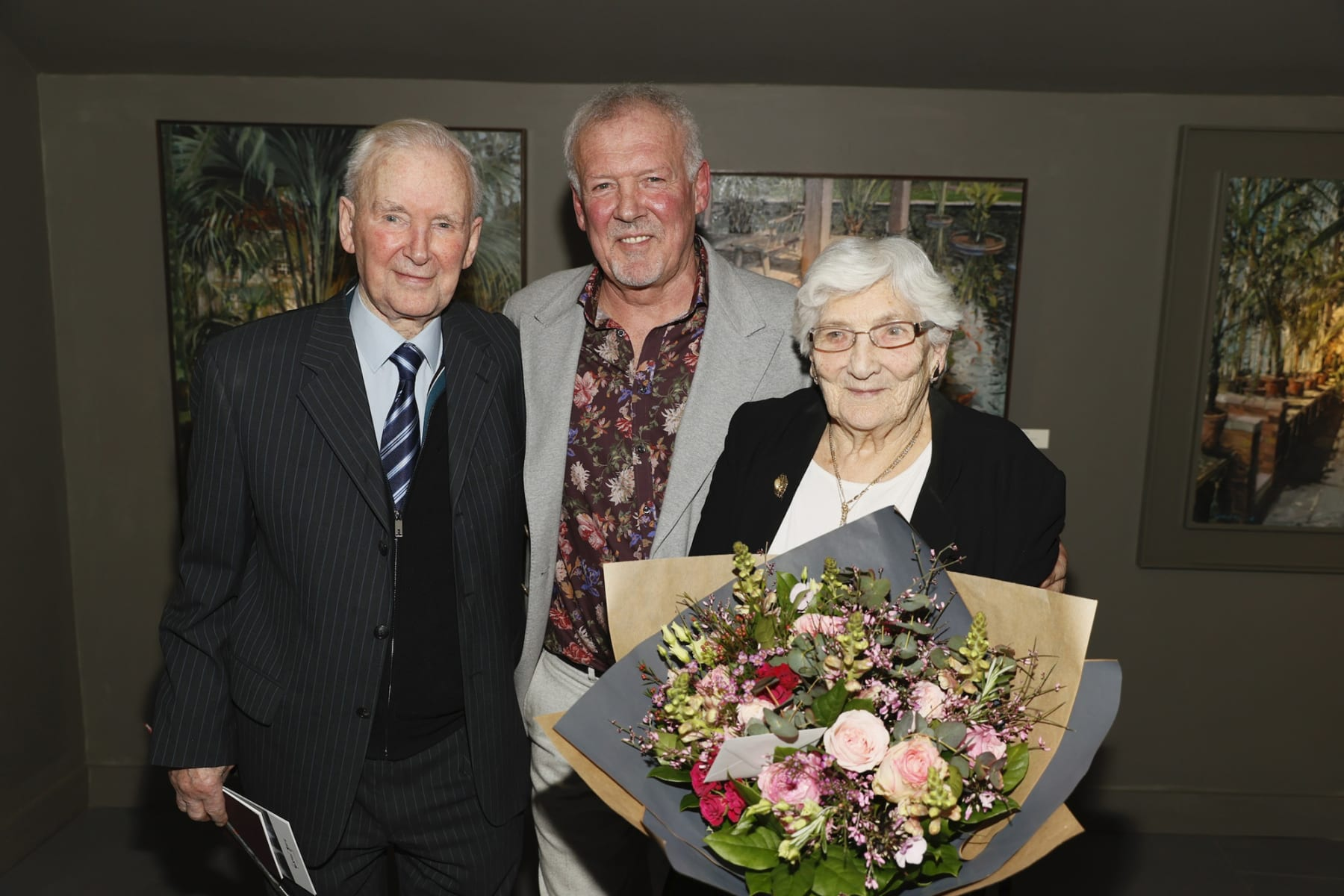 Artist Gerard Byrne with his parents Brendan and Kathleen Byrne at the opening of the 'Botanical Fusion. Singapore to Dublin' Exhibition