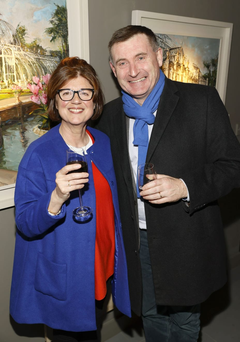Conor and Rosanna Shaw at the opening of the 'Botanical Fusion. Singapore to Dublin' Exhibition
