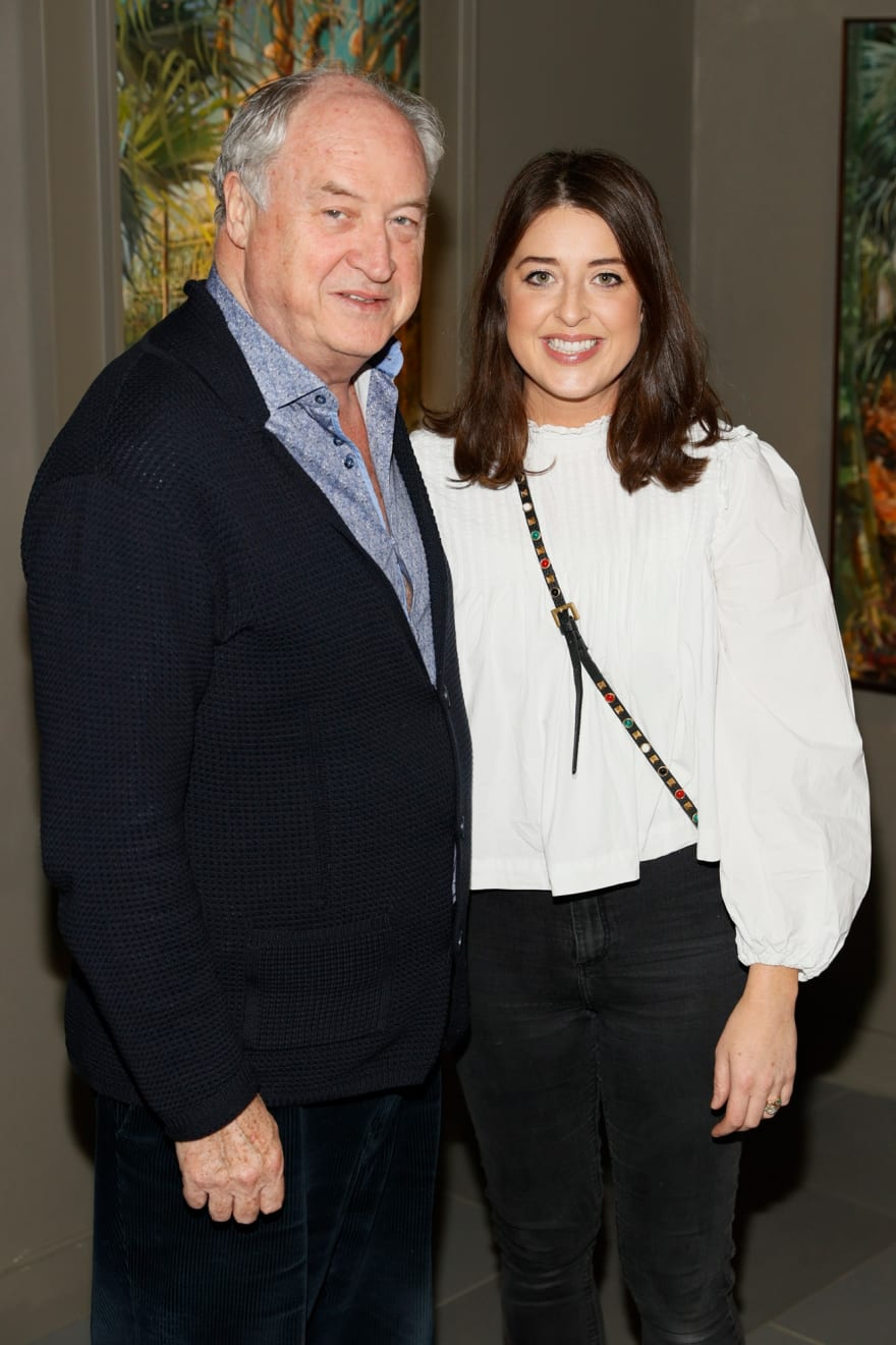 Donnacha and Aoife O'Dea at the opening of the 'Botanical Fusion. Singapore to Dublin' Exhibition