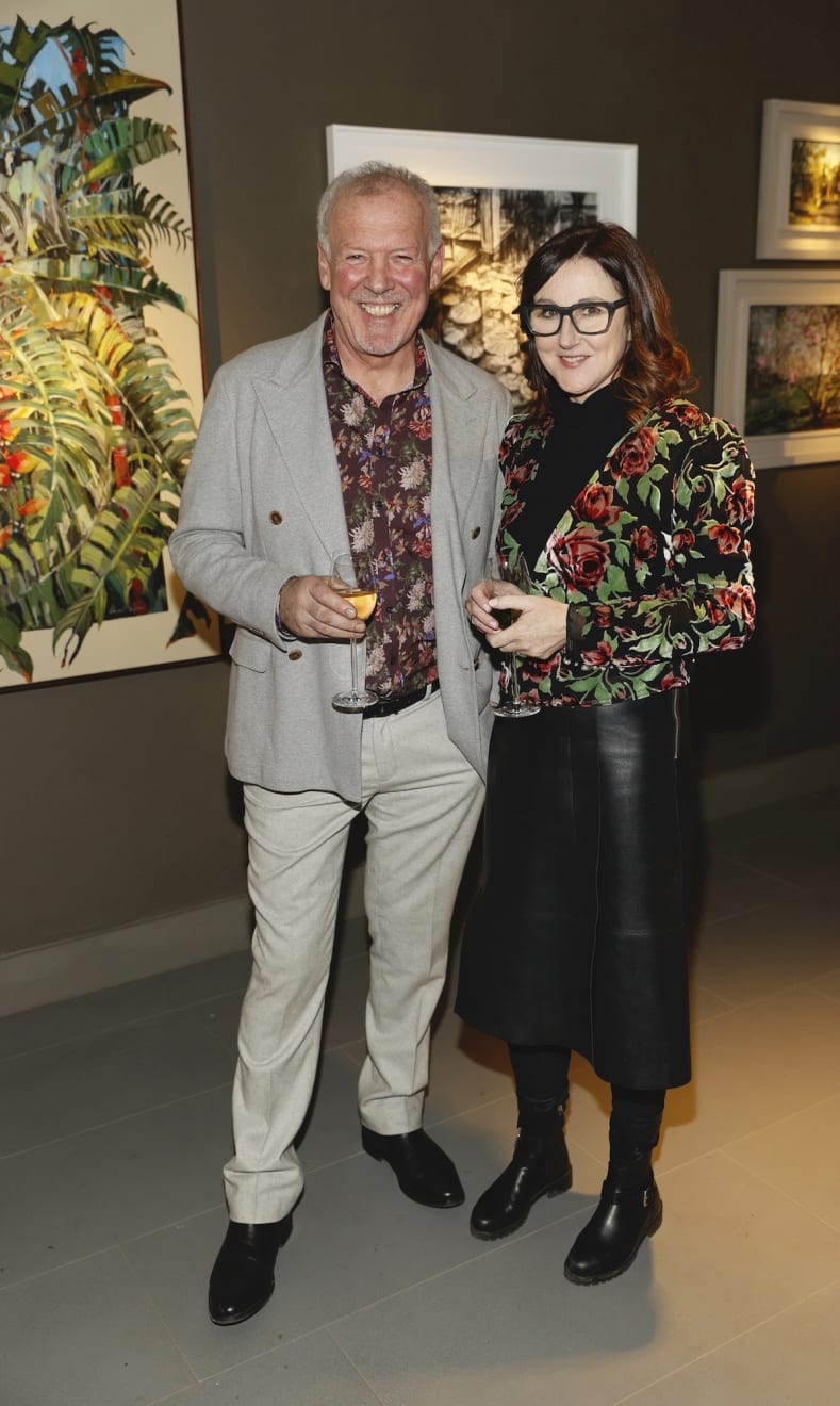 Gerard Byrne and Helen Kilmartin at the opening of the 'Botanical Fusion. Singapore to Dublin' Exhibition