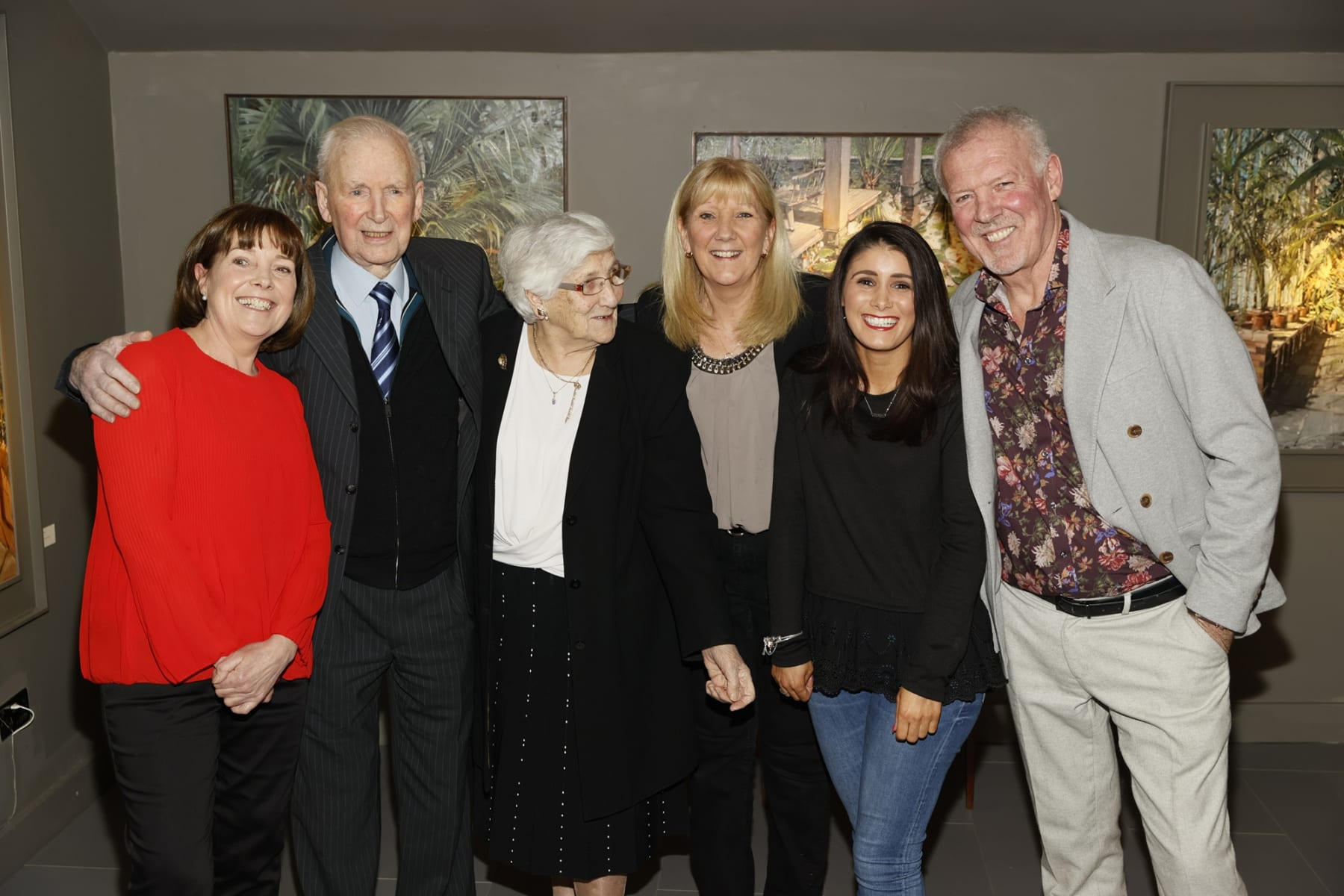 Irene Donovan, Brendan and Kathleen Byrne, Pauline and Alison Hazel and Gerard Byrne at the opening of the 'Botanical Fusion. Singapore to Dublin' Exhibition
