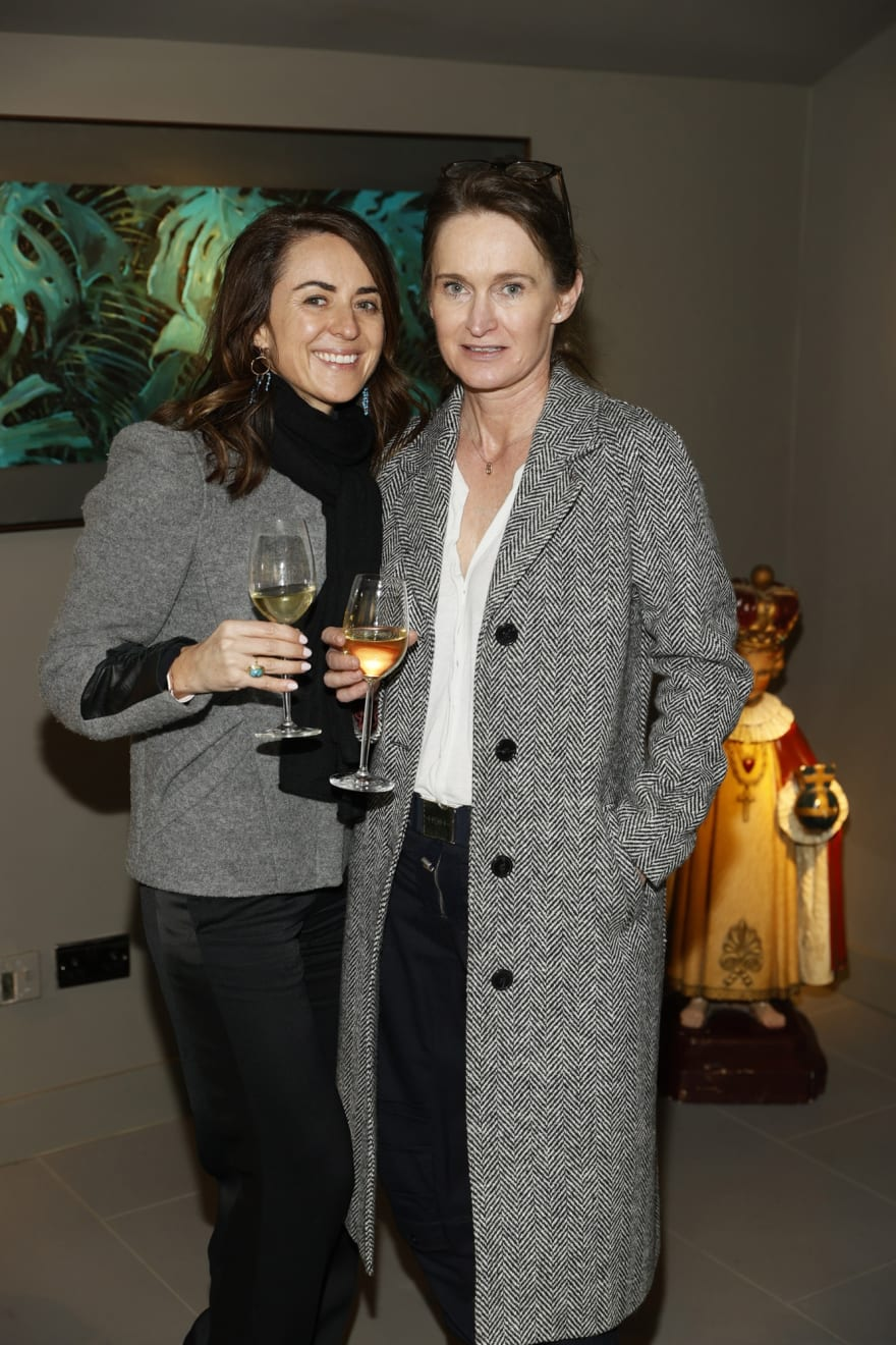 Jane Forrestal and Tracy Kelly at the opening of the 'Botanical Fusion. Singapore to Dublin' Exhibition