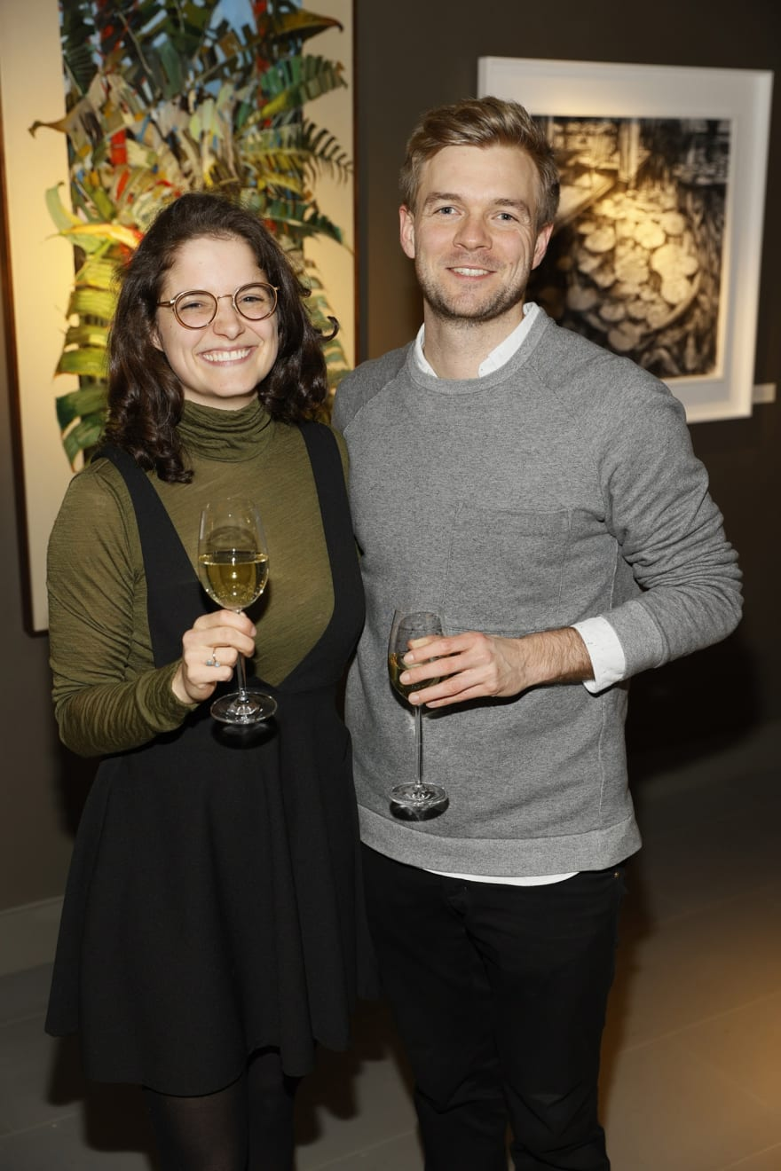 Lioba Gnauert and Christoph Gringnuth at the opening of the 'Botanical Fusion. Singapore to Dublin' Exhibition