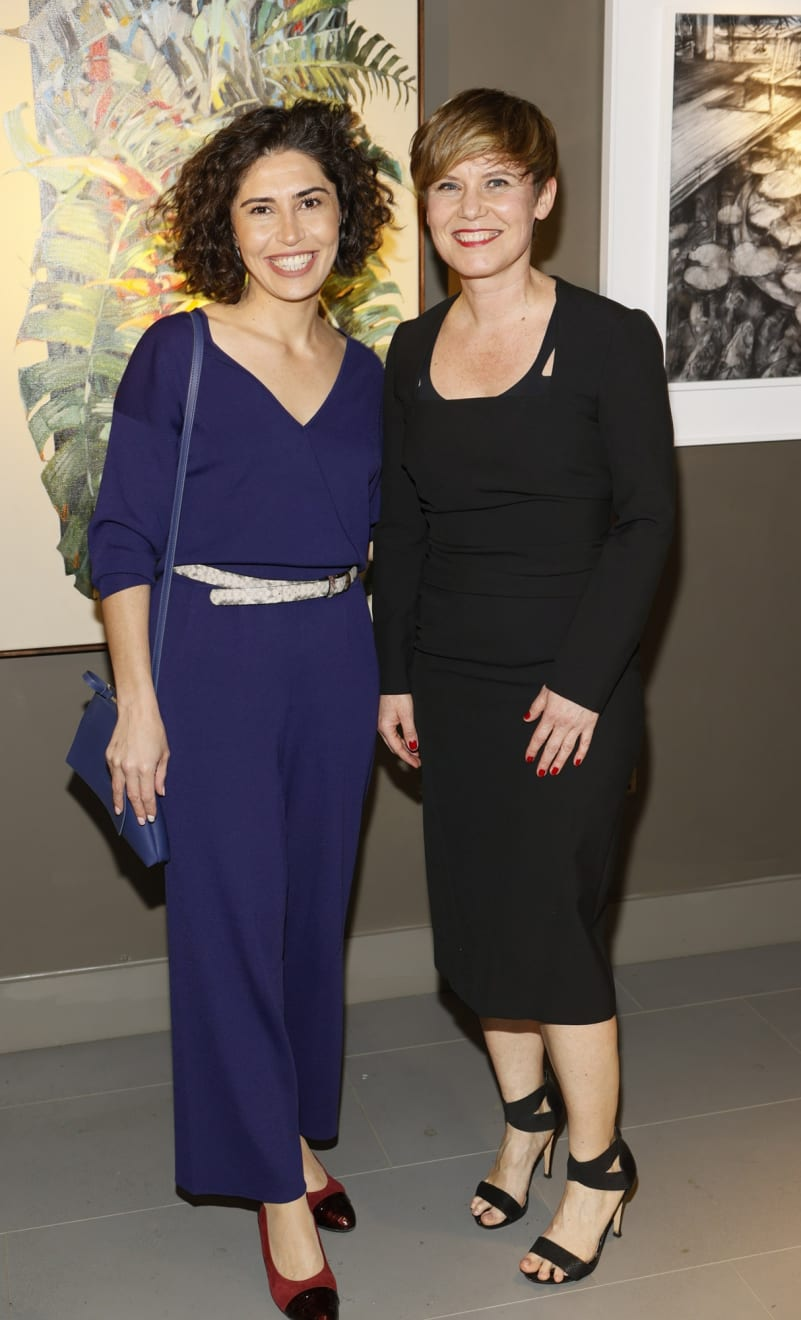 Nesli Ercan and Sylwia Janik at the opening of the 'Botanical Fusion. Singapore to Dublin' Exhibition