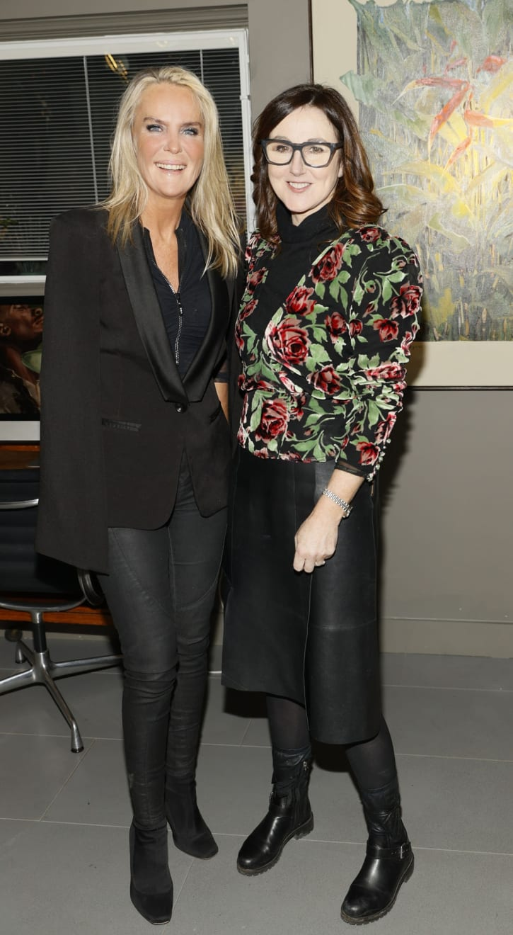Siobhan Buchanan Johnston and Helen Kilmartin at the opening of the 'Botanical Fusion. Singapore to Dublin' Exhibition