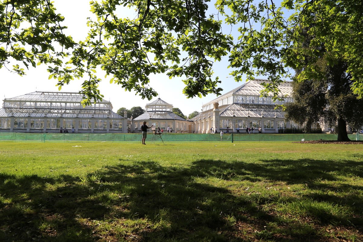 05 MAY 2018 KEW GARDENS, LONDON The Temperate House in the Afternoon Sun photo: Agata Byrne